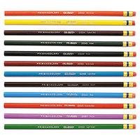 Prismacolor 20516 Col-Erase 12 Assorted Woodcase Barrel 0.7mm Soft Lead Colored Pencils with Eraser