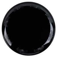 "WNA Comet DWP10144BK 10 1/4"" Black Plastic Designerware Plate - 144/Case"