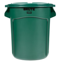 Rubbermaid BRUTE 20 Gallon Green Trash Can and Lid