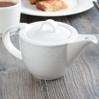 Villeroy & Boch 16-2238-0530 Bella 13 oz. White Porcelain Teapot - 6/Case