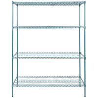 Regency 24 inch x 60 inch NSF Green Epoxy Shelf Kit with 74 inch Posts