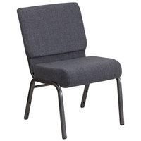 Flash Furniture FD-CH0221-4-SV-DKGY-GG Hercules Series Dark Gray 21 inch Church Chair with Silver Vein Frame