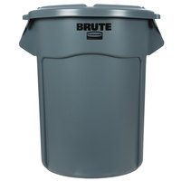 Rubbermaid BRUTE 55 Gallon Gray Trash Can and Lid