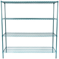 Regency 24 inch x 72 inch NSF Green Epoxy Shelf Kit with 74 inch Posts