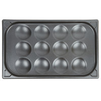 Vollrath 42100 12 Cup SteelCoat x3 Non-Stick Egg Poacher Pan