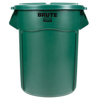 Rubbermaid BRUTE 55 Gallon Green Trash Can and Lid