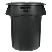 Rubbermaid BRUTE 44 Gallon Black Executive Trash Can and Lid