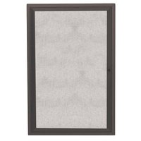 Aarco ODCC2418RBA 24 inch x 18 inch Enclosed Hinged Locking 1 Door Bronze Anodized Outdoor Bulletin Board Cabinet