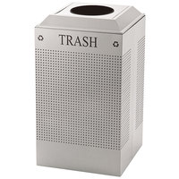 Rubbermaid FGDCR24TSS Silhouettes Stainless Steel Designer Recycling Receptacle - Trash 29 Gallon
