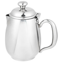Vollrath 46598 Orion 12 oz. Mirror-Finished Stainless Steel Creamer with Lid