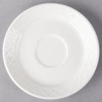 Villeroy & Boch 16-2238-1460 Bella 4 3/4 inch White Porcelain Saucer - 6/Case