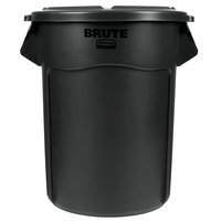 Rubbermaid BRUTE 55 Gallon Black Executive Trash Can and Lid