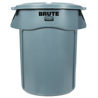 Rubbermaid BRUTE 44 Gallon Gray Trash Can and Lid
