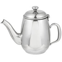 Vollrath 46594 Orion 20 oz. Mirror-Finished Stainless Steel Coffee / Tea Pot