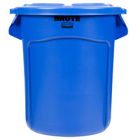 Rubbermaid BRUTE 20 Gallon Blue Trash Can and Lid