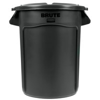Rubbermaid BRUTE 32 Gallon Black Executive Trash Can and Lid