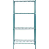 Regency 18 inch x 36 inch NSF Green Epoxy Shelf Kit with 74 inch Posts