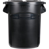 Rubbermaid BRUTE 20 Gallon Black Executive Trash Can and Lid