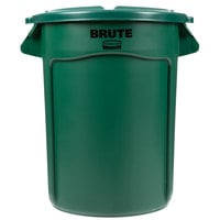 Rubbermaid BRUTE 32 Gallon Green Trash Can and Lid