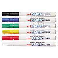 Uni-Paint Markers 63720 Assorted 6-Color Fine Point Marker Set