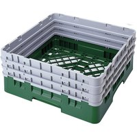 Cambro BR712119 Sherwood Green Camrack Customizable Full Size Open Base Rack with 3 Extenders