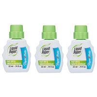 Paper Mate 5643115 Liquid Paper Fast Dry Correction Fluid 22mL Bottle - 3/Pack