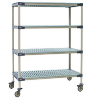 Metro X366PG4 MetroMax 4 Polymer Grid Shelf Cart - 18 inch x 60 inch