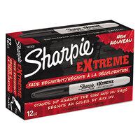 Sharpie 1927432 Extreme Black Fine Point Permanent Marker - 12/Pack