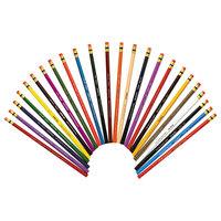 Prismacolor 20517 Col-Erase 24-Color Assorted Woodcase Barrel 0.7 mm Colored Pencil with Eraser - 24/Set