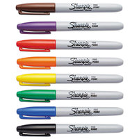 Sharpie 30078 Assorted 8-Color Fine Point Permanent Marker Set