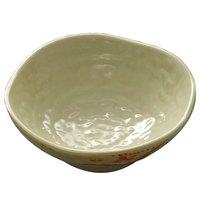 Thunder Group 3705 Gold Orchid 7 oz. Round Melamine Wave Rice Bowl - 12/Case