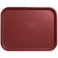 Carlisle CT141861 Cafe 14 inch x 18 inch Burgundy Standard Plastic Fast Food Tray