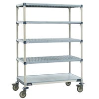 Metro 5X337EGX3 MetroMax i Polymer Grid Cart with Solid Bottom Shelf - 18 inch x 36 inch