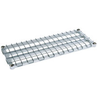 Metro 2448HDRC HDR Series 24 inch x 48 inch Chrome HD Super Dunnage Shelf
