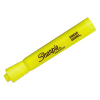 Sharpie 25164PP Accent Fluorescent Yellow Chisel Tip Tank Style Highlighter - 4/Pack