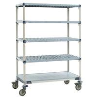 Metro 5X357EGX3 MetroMax i Polymer Grid Cart with Solid Bottom Shelf - 18 inch x 48 inch