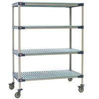 Metro X566PG4 MetroMax 4 Polymer Grid Shelf Cart - 24 inch x 60 inch