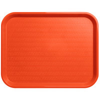 Carlisle CT141824 Cafe 14 inch x 18 inch Orange Standard Plastic Fast Food Tray