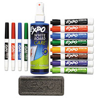 Expo 80054 Assorted 8-Color Low-Odor Chisel and Fine Tip Dry Erase Marker Set