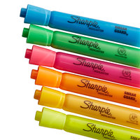 Sharpie 25053 Accent Assorted 6-Color Chisel Tip Tank Style Highlighter - 12/Pack