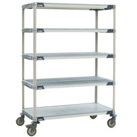Metro 5X557PG4 MetroMax 4 Polymer Cart with Solid Shelves - 24 inch x 48 inch
