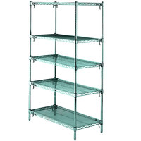 Metro 5A537K3 Stationary Super Erecta Adjustable 2 Series Metroseal 3 Wire Shelving Unit - 24 inch x 36 inch x 74 inch