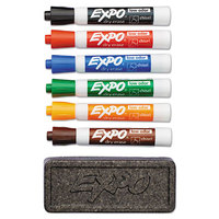 Expo 80556 Assorted 6-Color Chisel Tip Dry Erase Marker and Organizer Set