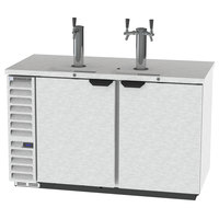 Beverage-Air DD58HC-1-S 1 Single and 1 Double Tap Kegerator Beer Dispenser - Stainless Steel Front, (3) 1/2 Keg Capacity