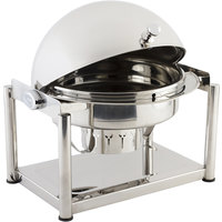 Bon Chef 11001D Olympia 8 Qt. Dripless Round Stainless Steel Roll Top Chafer