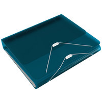Samsill 10134 DUO Turquoise 2-in-1 Binder Organizer with 1 inch Round Rings