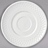 Syracuse China 999013500 EOS Constellation 6 inch Lunar Bright White Porcelain Saucer - 36/Case