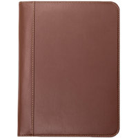 Samsill 71716 9 1/4 inch x 12 1/2 inch Tan Leather Contrast Stitch Padfolio