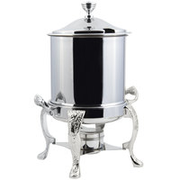 Bon Chef 37001HLCH Renaissance Petite 8 Qt. Stainless Steel with Chrome Accents Hinged Top Marmite Chafer