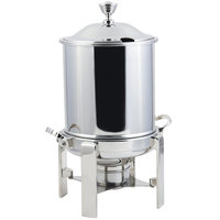Bon Chef 34001HLCH Contemporary Petite 8 Qt. Stainless Steel with Chrome Accents Hinged Top Marmite Chafer